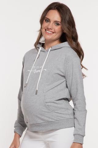 Худи для беременных и кормящих 11700 серый