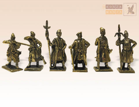 набор солдатиков Стрельцы Древней Руси 17 в. 6 шт.
