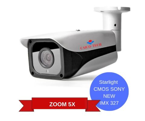 Уличная светочувствительная видеокамера CAICO TECH CCTV 5527 STARLIGHT второго поколения CMOS Sony STARVIS IMX 327 ZOOM 5X 2.7-13.5mm моторизован AVTO FOCUS AVTO IRIS