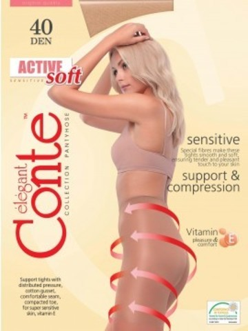 Conte Active Soft Колготки женские 40d, p.4 bronz