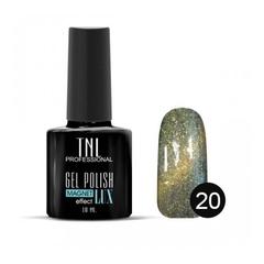 TNL, Гель-лак Magnet LUX №20 - темный папоротник с блестками, 10 мл