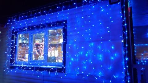 Занавес светодиодный уличный 3*2м 400LED с мерцанием синий