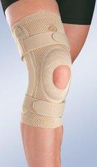 Бандаж коленный Orliman c открытой коленной чашечкой с силиконовой подушечкой и полицентрическим шарниром