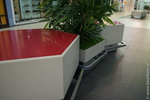 Скамейка из искусственного камня для ТЦ