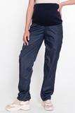 Утепленные брюки для беременных 03254 синий
