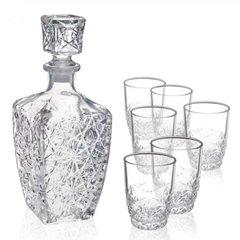 Набор  для водки «Dedalo», декантер 780 мл, 6 стаканов 85 мл, фото 1