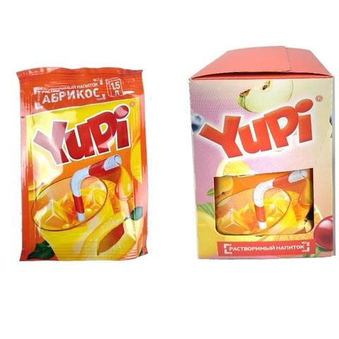 Растворимый напиток YUPI Абрикос 1кор*6бл*24шт 15 гр.