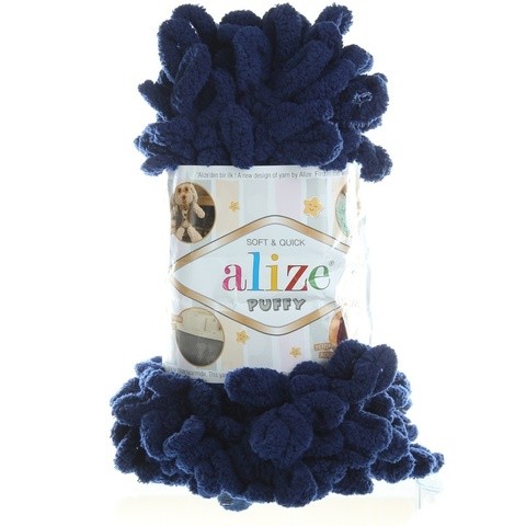 Купить Пряжа Alize Puffy Код цвета 58 Темно-синий | Интернет-магазин пряжи «Пряха»