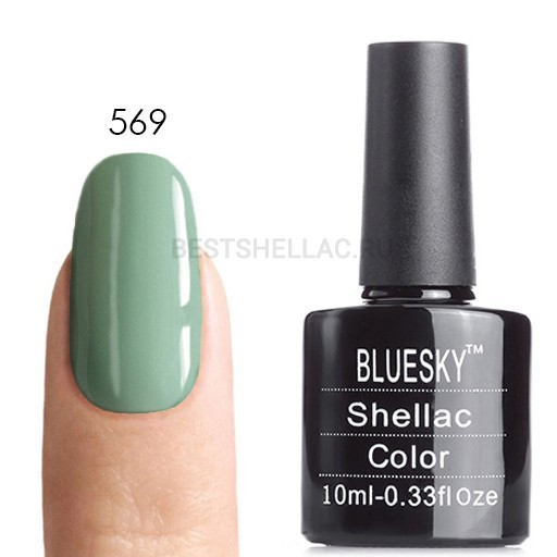 Bluesky Shellac 40501/80501 Гель-лак Bluesky № 40569/80569 Mint Convertible, 10 мл 569.jpg
