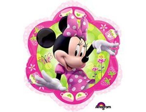 Фольгированный шар Минни маус цветок