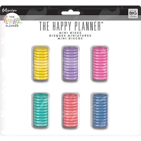 Набор дисков - (крепежный механизм для ежедневников) Happy Planner Expander (Mini) - 2.3 см -66 шт.