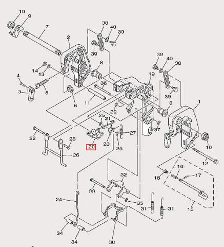 Держатель крючка для лодочного мотора F9,9 Sea-PRO (21-20)