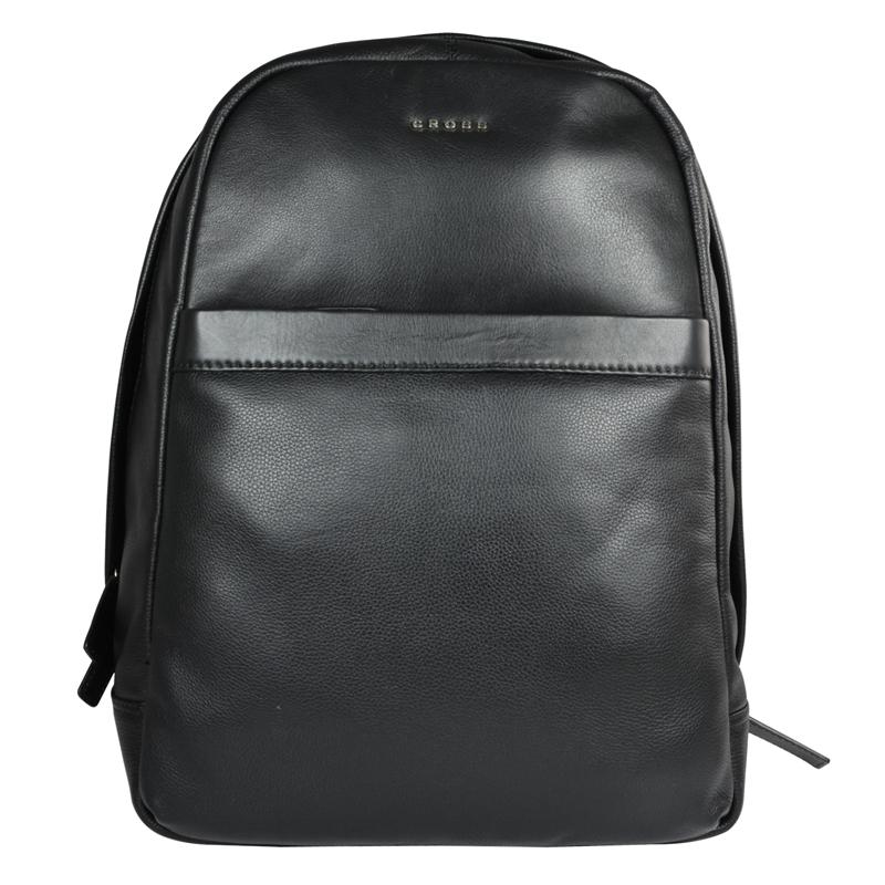 Кожаный американский мужской рюкзак Cross Renovar Black AC942262