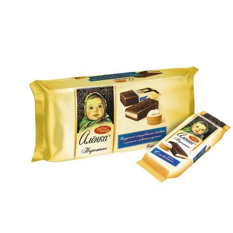 Пирожное Аленка со сливочным кремом 240 г (6 штук в упаковке)