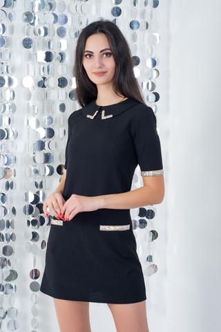 Алекса. Молодежное стильное платье. Черный