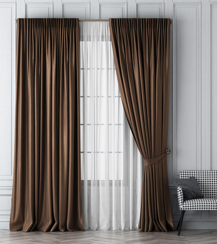 Комплект штор Габриэль коричневый
