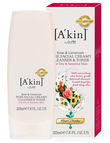 Крем-тоник для очищения кожи «Роза и Герань», A'kin