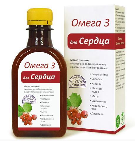 Компас здоровья масло льняное с растительными экстрактами «Для сердца»
