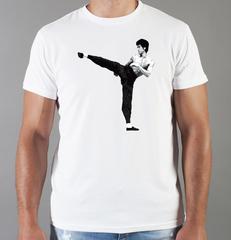 Футболка с принтом Брюс Ли (Bruce Lee) белая 007