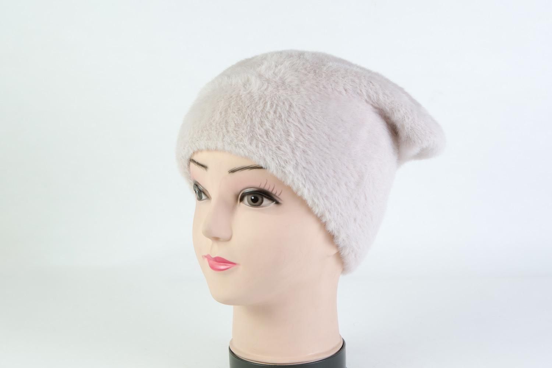 Женская шапка бежевая SH H8365D bege