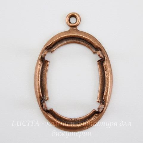 Сеттинг - основа - подвеска для камеи или кабошона 18х13 мм (оксид меди) ()