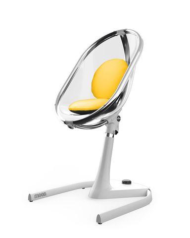 Стульчик Mima Moon 2G White Вставка Yellow