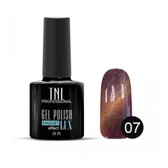 TNL, Гель-лак Magnet LUX №07 - малиново-вишневый с блестками, 10 мл