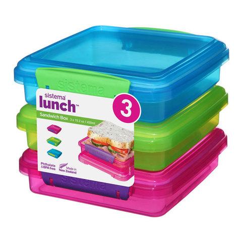 Набор контейнеров для сэндвичей Lunch, 450 мл (3 шт.)