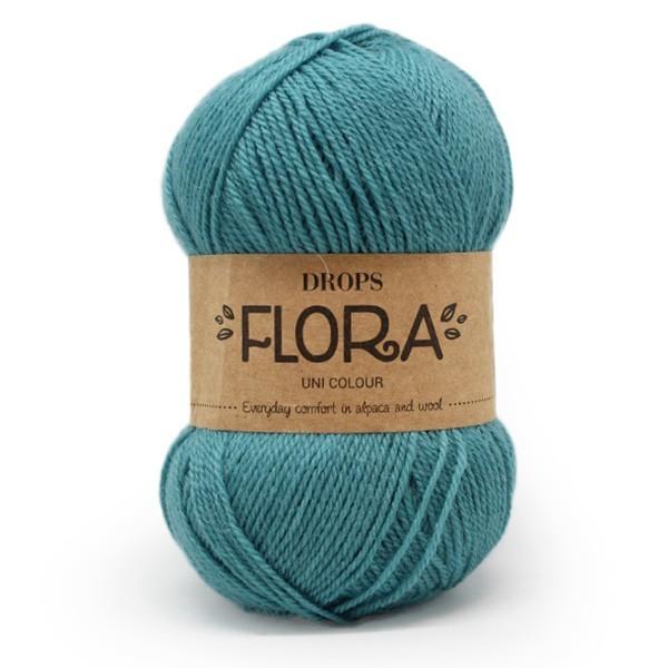 Пряжа Drops Flora 12 бирюза