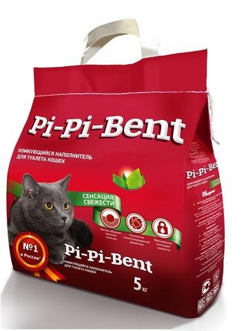 Комкующийся наполнитель Pi Pi Bent Сенсация свежести (п/э пакет)
