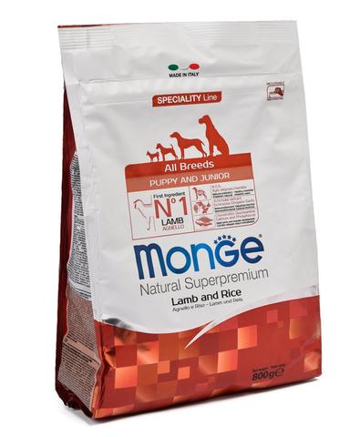 Monge Dog Speciality Puppy&Junior корм для щенков всех пород ягненок с рисом 800г