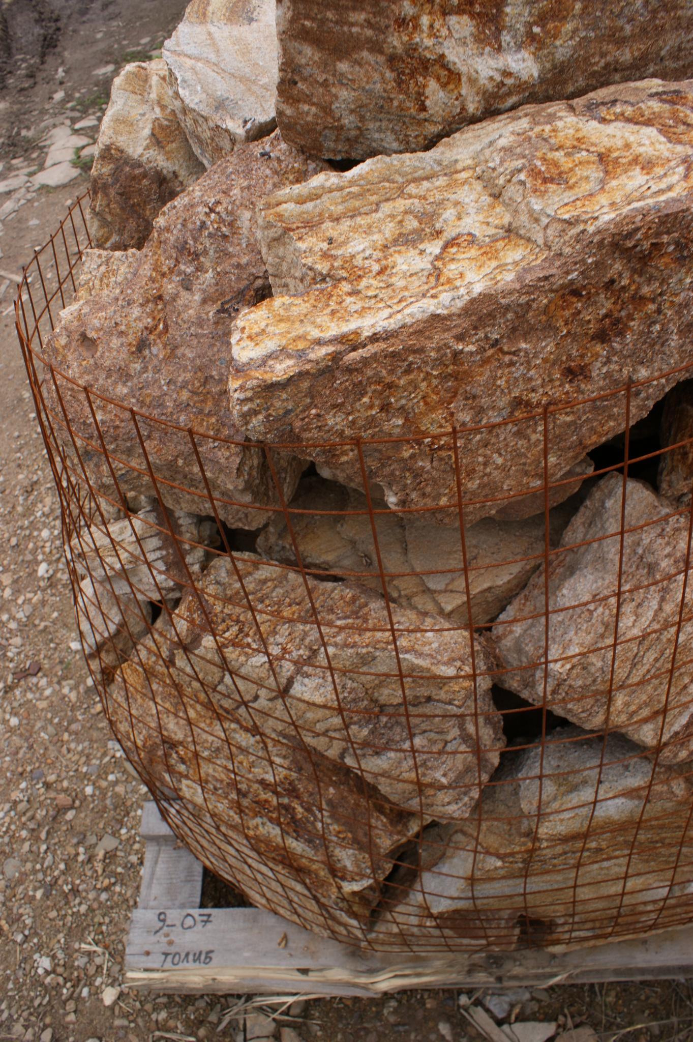 Бутовый камень кладочный Тигровый отгрузка