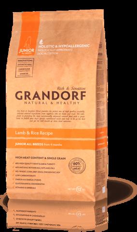Grandorf Dog Lamb&Rice JUNIOR сухой корм для щенков (ягнёнок с рисом) 3кг