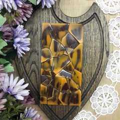 Шоколад ремесленный на меду с апельсином и фундуком / 90 гр