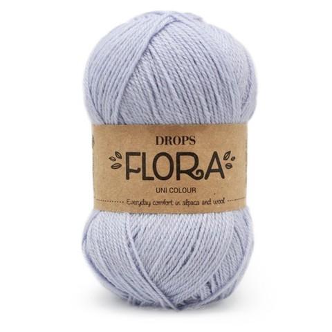 Пряжа Drops Flora 14 голубой