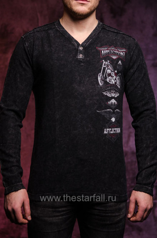 Пуловер STACKED MOTORS L/S HENLEY Affliction