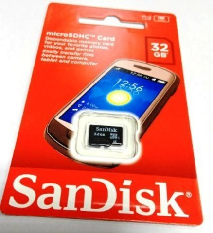 micro SDHC карта памяти SanDisk 32GB Class4