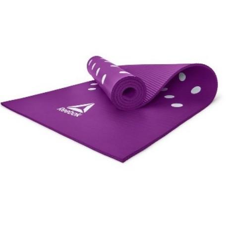 RAMT-12235PL Тренировочный коврик (фитнес-мат) Reebok Белые Пятна, 7 мм, пурпурный