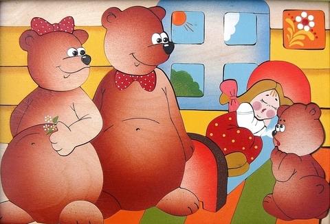 Мозаика-вкладыш Три медведя, Крона, арт. 143-032