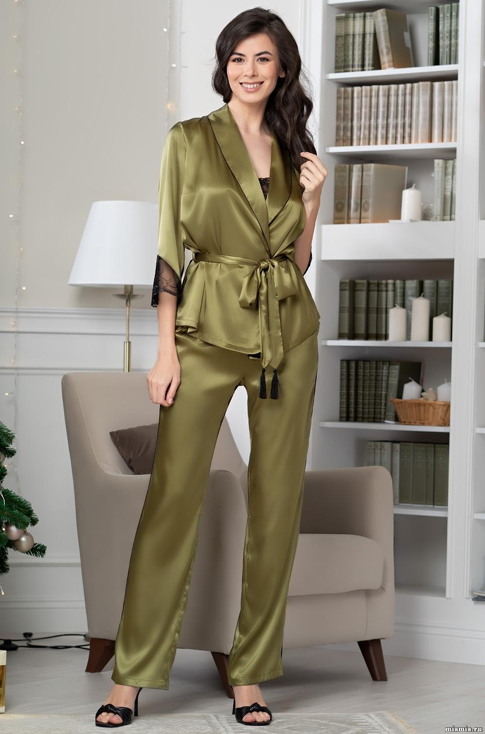 шелк натуральный Комплект домашний с брюками Mia-Amore OLIVIA ОЛИВИЯ 3645 3645_5__1_.jpg