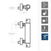 Смеситель термостатический для душа AROLA 263402SB белый - фото №2