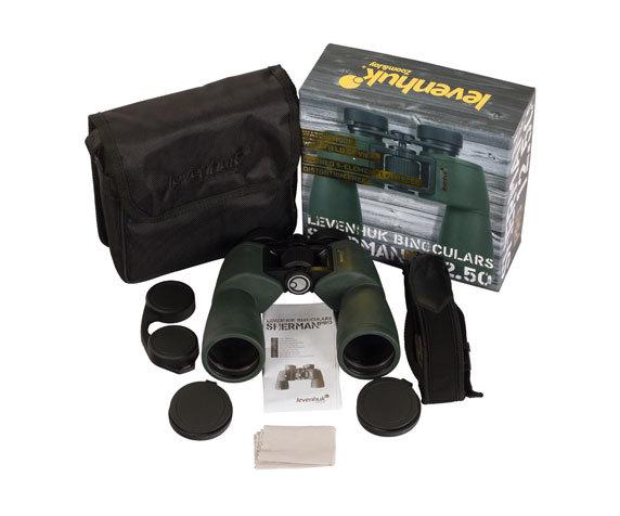 Комплект бинокля Levenhuk Sherman Pro 12 50