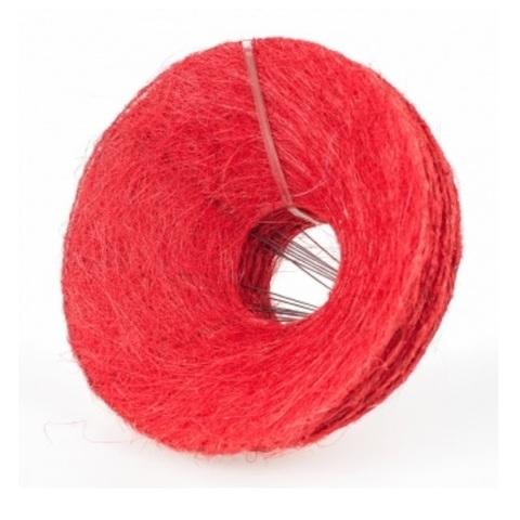 Каркас для букета гладкий (сизаль, диаметр: 30 см) Цвет: красный