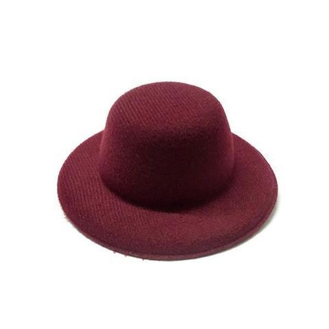Шляпа  для игрушек бордо 10см