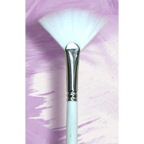 Кисть для масок веерная №8 / синтетический ворс / 300940108