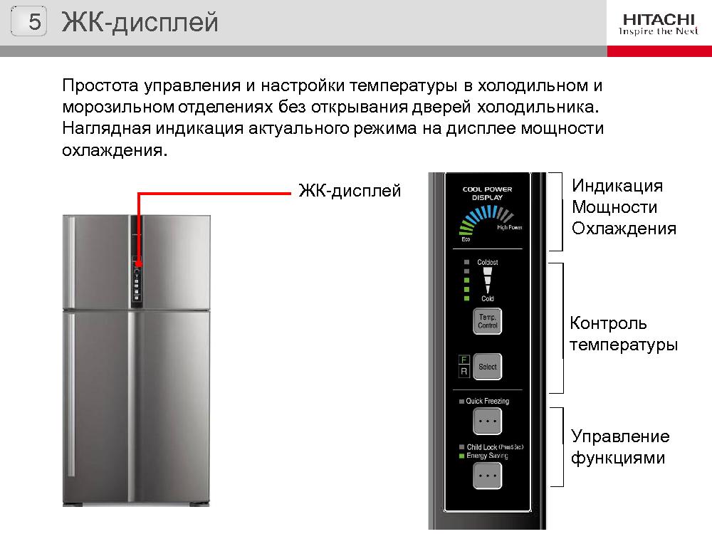 Холодильник с верхней морозильной камерой Hitachi R-V722PU1X INX
