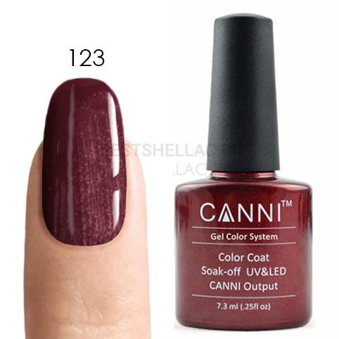 Canni Canni, Гель-лак № 123, 7,3 мл 123.jpg