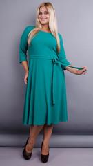 Кора. Элегантное платье плюс сайз. Бирюза.