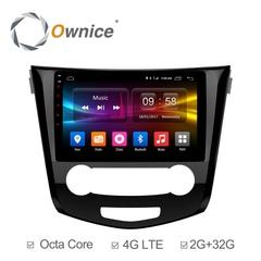 Штатная магнитола на Android 6.0 для Nissan Qashqai 14+ Ownice C500+ S1667P