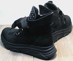 Черные осенние ботинки женские Rifellini Rovigo 525 Black.